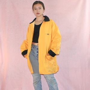 VTG 1990s Grunge Yellow Raincoat
